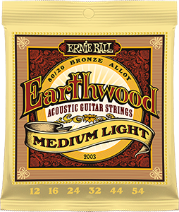 Pack of Medium Light Earthwood Bronze strings