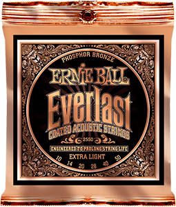 Pack of Extra Light Everlast Phosphor Bronze strings