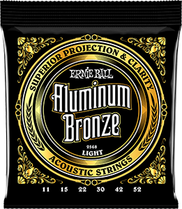Pack of Light Aluminum Bronze strings